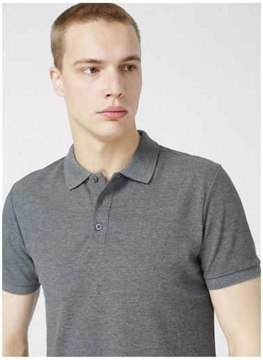 Limon Company Limon Erkek Antrasit Melanj Polo T-Shirt Antrasit